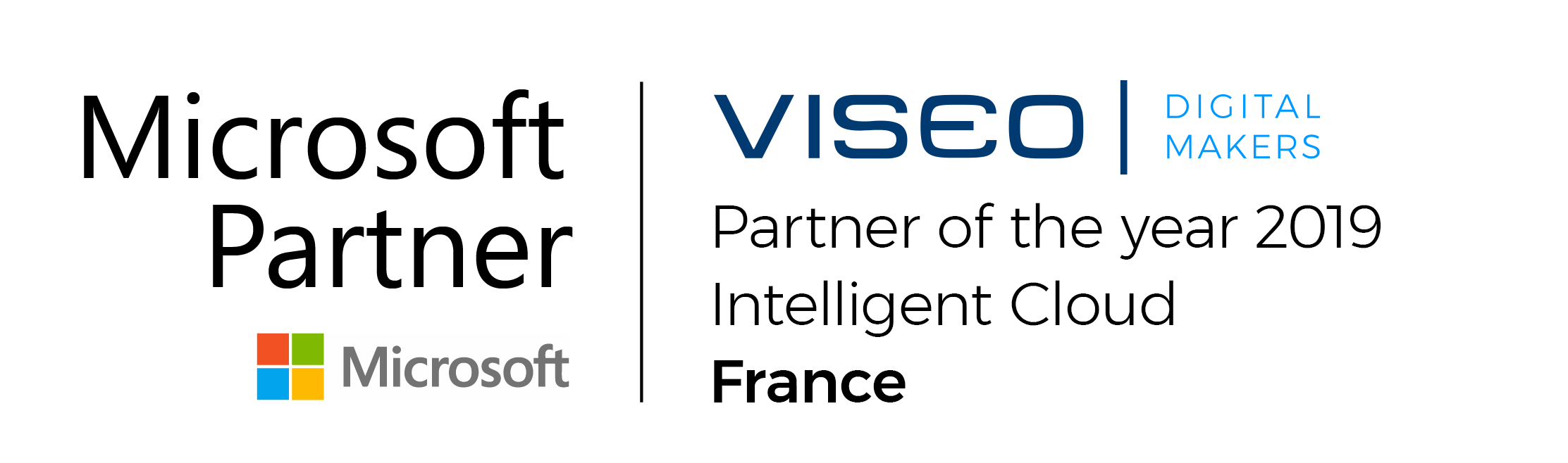 Microsoft partner of the year intelligence cloud by VISEO
