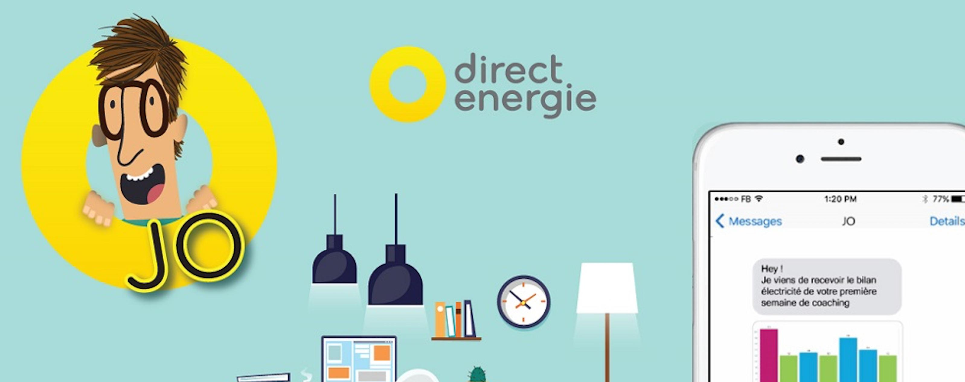 VISEO accompagne Direct Energie sur Jo, son agent conversationnel